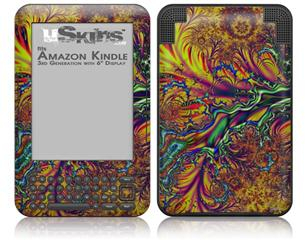Fire And Water - Decal Style Skin fits Amazon Kindle 3 Keyboard (with 6 inch display)