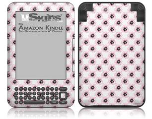 Kearas Daisies Diffuse Glow Pink - Decal Style Skin fits Amazon Kindle 3 Keyboard (with 6 inch display)