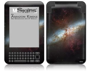 Hubble Images - Starburst Galaxy - Decal Style Skin fits Amazon Kindle 3 Keyboard (with 6 inch display)