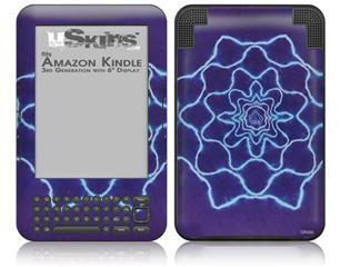 Tie Dye Purple Stars - Decal Style Skin fits Amazon Kindle 3 Keyboard (with 6 inch display)
