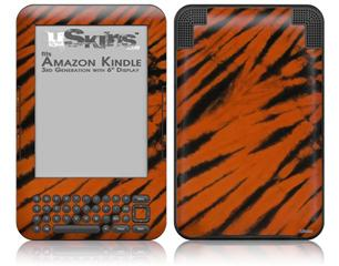 Tie Dye Bengal Side Stripes - Decal Style Skin fits Amazon Kindle 3 Keyboard (with 6 inch display)