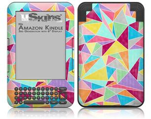 Brushed Geometric - Decal Style Skin fits Amazon Kindle 3 Keyboard (with 6 inch display)