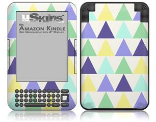 Triangles Cool - Decal Style Skin fits Amazon Kindle 3 Keyboard (with 6 inch display)