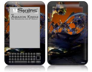 Alien Tech - Decal Style Skin fits Amazon Kindle 3 Keyboard (with 6 inch display)