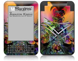 Atomic Love - Decal Style Skin fits Amazon Kindle 3 Keyboard (with 6 inch display)