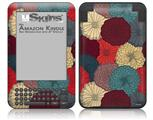 Flowers Pattern 04 - Decal Style Skin fits Amazon Kindle 3 Keyboard (with 6 inch display)
