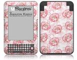 Flowers Pattern Roses 13 - Decal Style Skin fits Amazon Kindle 3 Keyboard (with 6 inch display)