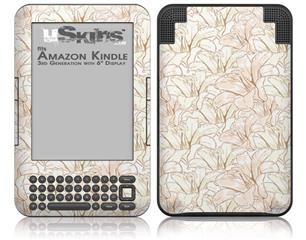 Flowers Pattern 17 - Decal Style Skin fits Amazon Kindle 3 Keyboard (with 6 inch display)