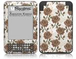 Flowers Pattern Roses 20 - Decal Style Skin fits Amazon Kindle 3 Keyboard (with 6 inch display)