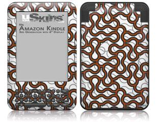 Locknodes 01 Burnt Orange - Decal Style Skin fits Amazon Kindle 3 Keyboard (with 6 inch display)