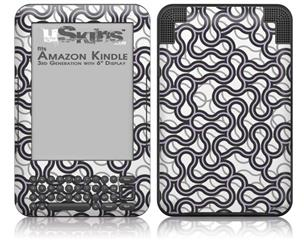 Locknodes 01 Lavender - Decal Style Skin fits Amazon Kindle 3 Keyboard (with 6 inch display)