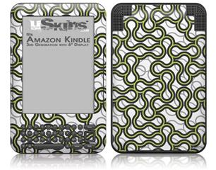 Locknodes 01 Sage Green - Decal Style Skin fits Amazon Kindle 3 Keyboard (with 6 inch display)