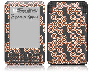 Locknodes 02 Burnt Orange - Decal Style Skin fits Amazon Kindle 3 Keyboard (with 6 inch display)