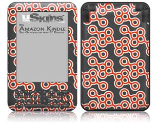 Locknodes 02 Red - Decal Style Skin fits Amazon Kindle 3 Keyboard (with 6 inch display)