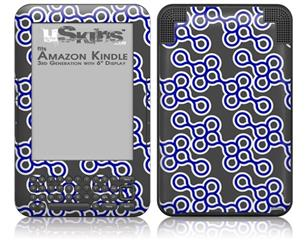 Locknodes 02 Royal Blue - Decal Style Skin fits Amazon Kindle 3 Keyboard (with 6 inch display)
