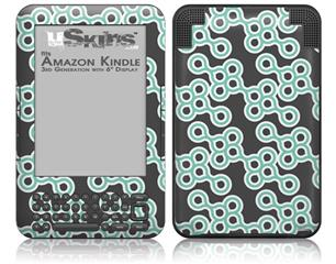 Locknodes 02 Seafoam Green - Decal Style Skin fits Amazon Kindle 3 Keyboard (with 6 inch display)