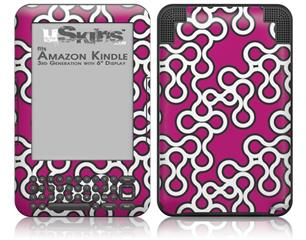 Locknodes 03 Hot Pink (Fuchsia) - Decal Style Skin fits Amazon Kindle 3 Keyboard (with 6 inch display)