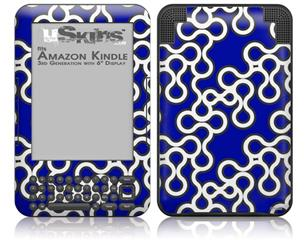 Locknodes 03 Royal Blue - Decal Style Skin fits Amazon Kindle 3 Keyboard (with 6 inch display)
