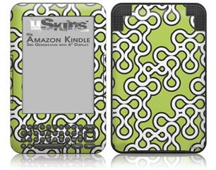 Locknodes 03 Sage Green - Decal Style Skin fits Amazon Kindle 3 Keyboard (with 6 inch display)