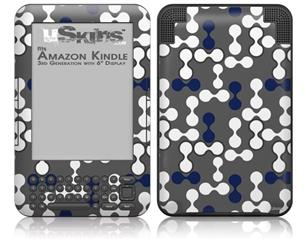 Locknodes 04 Navy Blue - Decal Style Skin fits Amazon Kindle 3 Keyboard (with 6 inch display)