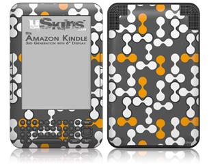 Locknodes 04 Orange - Decal Style Skin fits Amazon Kindle 3 Keyboard (with 6 inch display)