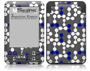 Locknodes 04 Royal Blue - Decal Style Skin fits Amazon Kindle 3 Keyboard (with 6 inch display)