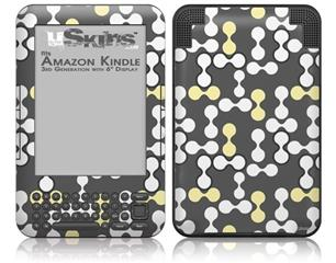 Locknodes 04 Yellow Sunshine - Decal Style Skin fits Amazon Kindle 3 Keyboard (with 6 inch display)