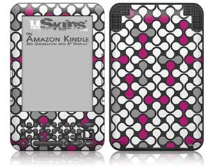 Locknodes 05 Hot Pink (Fuchsia) - Decal Style Skin fits Amazon Kindle 3 Keyboard (with 6 inch display)