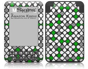 Locknodes 05 Green - Decal Style Skin fits Amazon Kindle 3 Keyboard (with 6 inch display)