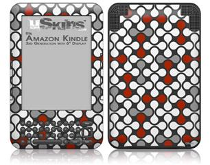 Locknodes 05 Red Dark - Decal Style Skin fits Amazon Kindle 3 Keyboard (with 6 inch display)