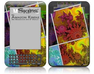 Largequilt - Decal Style Skin fits Amazon Kindle 3 Keyboard (with 6 inch display)