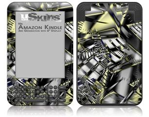Like Clockwork - Decal Style Skin fits Amazon Kindle 3 Keyboard (with 6 inch display)