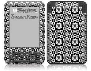 Gothic Punk Pattern - Decal Style Skin fits Amazon Kindle 3 Keyboard (with 6 inch display)