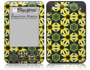 Daisies Yellow - Decal Style Skin fits Amazon Kindle 3 Keyboard (with 6 inch display)