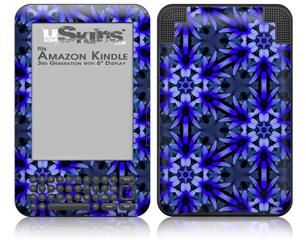 Daisy Blue - Decal Style Skin fits Amazon Kindle 3 Keyboard (with 6 inch display)