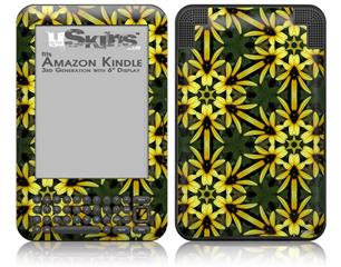 Daisy Yellow - Decal Style Skin fits Amazon Kindle 3 Keyboard (with 6 inch display)