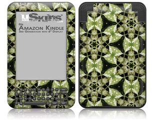 Leave Pattern 1 Green - Decal Style Skin fits Amazon Kindle 3 Keyboard (with 6 inch display)