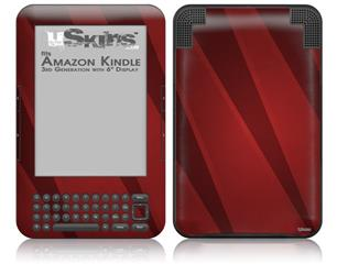 VintageID 25 Red - Decal Style Skin fits Amazon Kindle 3 Keyboard (with 6 inch display)