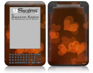 Bokeh Hearts Fire - Decal Style Skin fits Amazon Kindle 3 Keyboard (with 6 inch display)