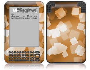 Bokeh Squared Orange - Decal Style Skin fits Amazon Kindle 3 Keyboard (with 6 inch display)