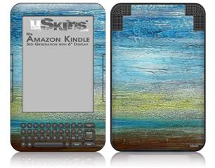 Landscape Abstract Beach - Decal Style Skin fits Amazon Kindle 3 Keyboard (with 6 inch display)