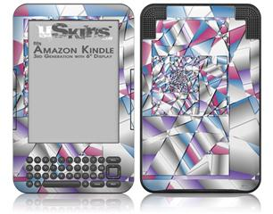 Paper Cut - Decal Style Skin fits Amazon Kindle 3 Keyboard (with 6 inch display)