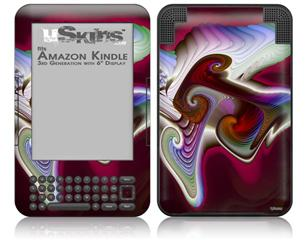 Racer - Decal Style Skin fits Amazon Kindle 3 Keyboard (with 6 inch display)