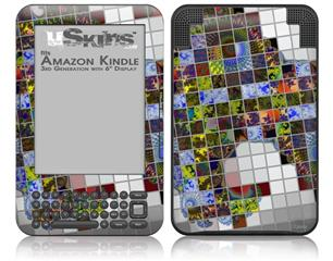 Quilt - Decal Style Skin fits Amazon Kindle 3 Keyboard (with 6 inch display)