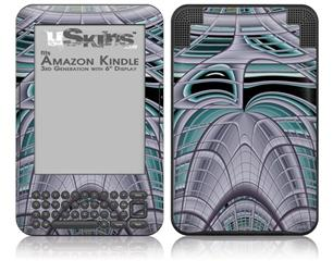 Socialist Abstract - Decal Style Skin fits Amazon Kindle 3 Keyboard (with 6 inch display)