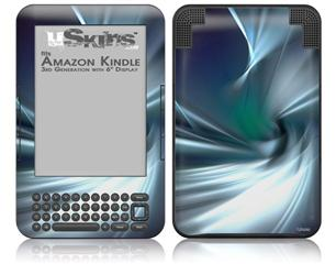 Icy - Decal Style Skin fits Amazon Kindle 3 Keyboard (with 6 inch display)