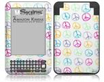 Kearas Peace Signs - Decal Style Skin fits Amazon Kindle 3 Keyboard (with 6 inch display)