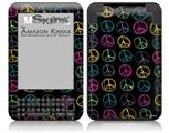 Kearas Peace Signs Black - Decal Style Skin fits Amazon Kindle 3 Keyboard (with 6 inch display)