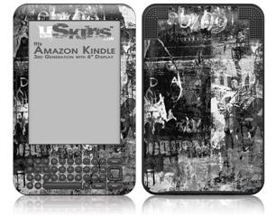 Graffiti Grunge Skull - Decal Style Skin fits Amazon Kindle 3 Keyboard (with 6 inch display)