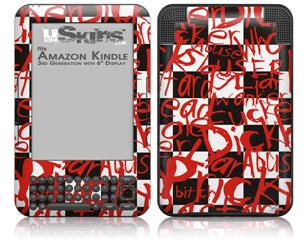 Insults - Decal Style Skin fits Amazon Kindle 3 Keyboard (with 6 inch display)